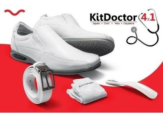 Sapato Social Mariner Atex Branco 75113 - Kit Médico 4 Peças