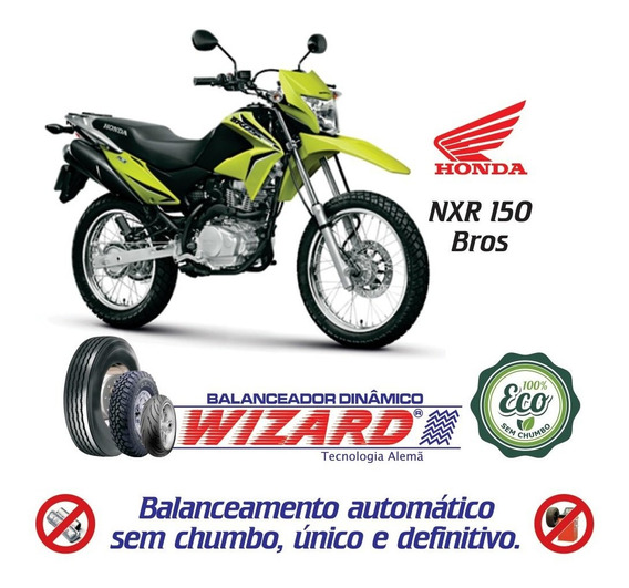 Balanceamento Dinâmico Sem Chumbo Moto Honda Nxr 150 Bros