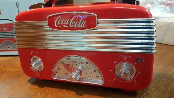 Radio Portatil Am/fm Coca-cola A Pilha Aa Produto Original Licenciado Coca-cola