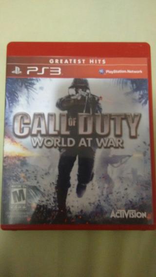 Ps3 Call Of Duty World At War Usado Super Conservado