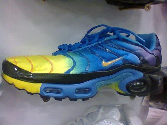 Tenis Nike Air Max Tn Azul E Amarelo Nº38 Ao 43 Original!!