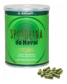 Spirulina Do Havaí 100% Vegetal 180 Cápsulas Naturalis