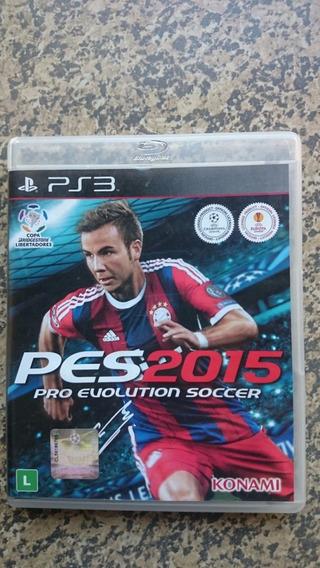 Pro Evolution Soccer 2015 Pes 15 Ps3 Frte R$10 Faço Desconto