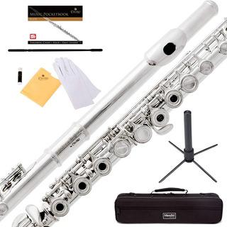 Flauta Transversal Orificio Abierto Clave De Si Mendini+ Kit