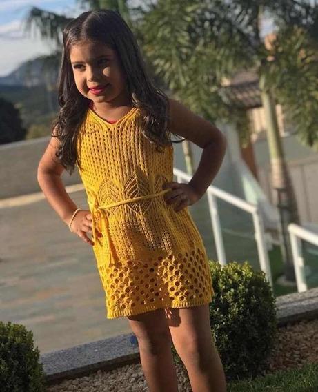 Saída Praia Infantil Menina Criança Vestido Canga Verão 2019