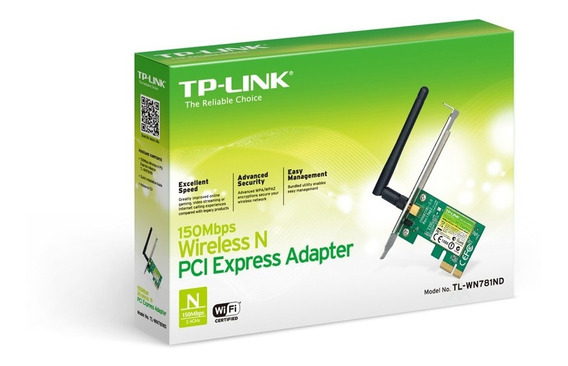 Tarjeta Pci Express Wi-fi 150mbps Tp-link Tl-wn781nd