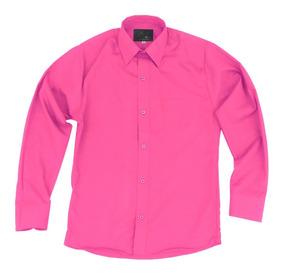 Camisa Infantil Juvenil Salida Escolar Rosa Fiusha 2 A 16