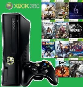 Xbox 360 Slim + Hd De 1 Tb Com 350 Jogos+ Emuladores