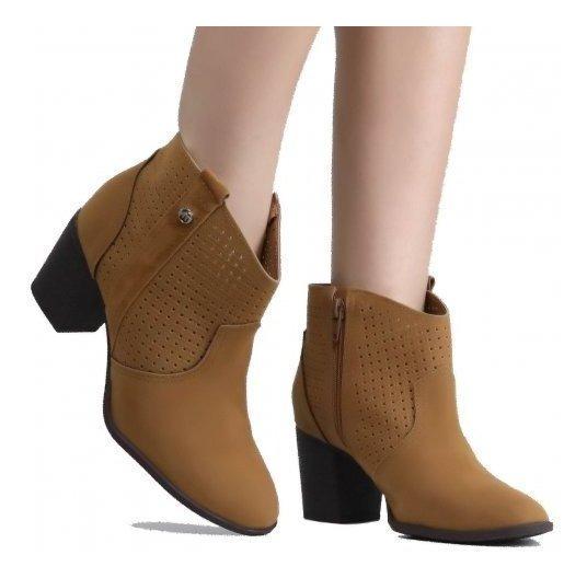 Bota Feminina Via Marte Ankle Boot 19-5702
