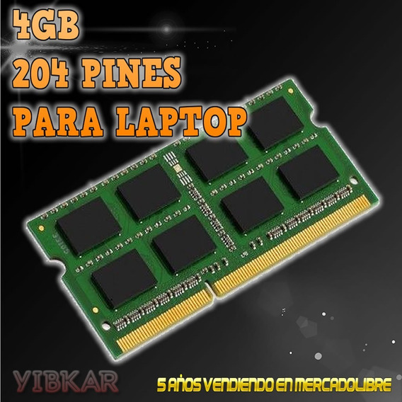 Memoria Ddr3 4gb 1600 Mhz Pc3-12800 1.5v Para Laptop Nueva!