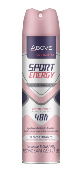 Desodorante Antitrans. Above Sport Energy Woman 150ml Baston