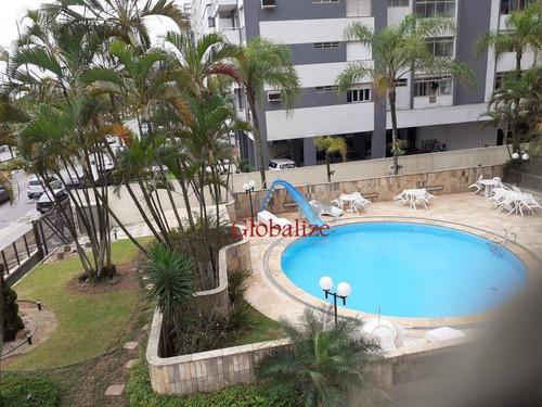 Imagem 1 de 30 de Apartamento Com 3 Dormitórios, 264 M², Frente Para O Mar, À Venda Por R$ 1.600.000 - Aparecida - Santos/sp - Ap0188