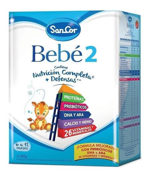 Leche de fórmula en polvo Sancor Bebé 2 en caja de 800g