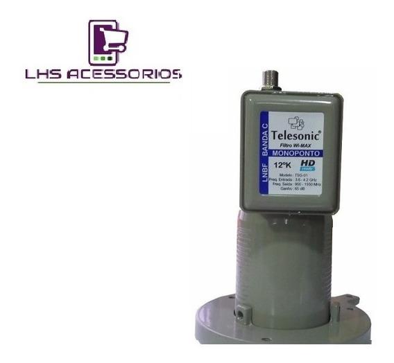 Lnbf Monoponto Telesonic Hdtv 3,6 ~4,2 Ghz