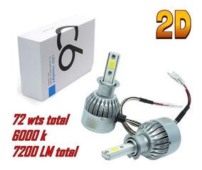 Par Lampada Super Led H3 H7 H11 Hb4 C6 7200 Lumens Tip Xenon
