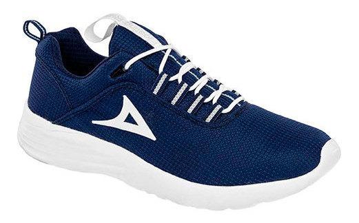 Tenis Clases Niño Pirma Azul Textil Textura C23648 Udt