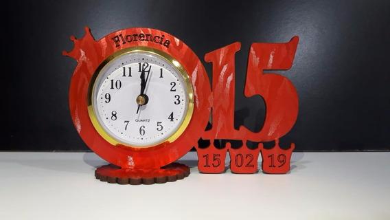 25 Souvenirs 15 Años Con Reloj Y Coronas Colores Originales