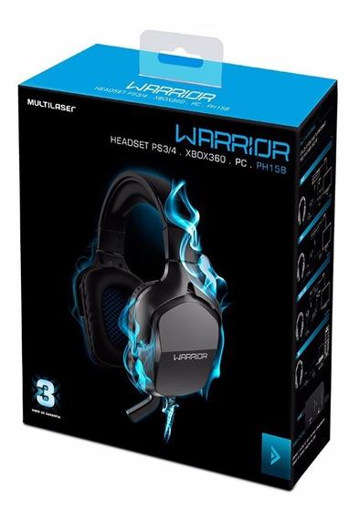 Fone De Ouvido Headset Gamer Warrior Ps3/4 Pc Ph 158