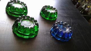 Antiguas Bases De Cristal Para Muebles. Precio Por Las 4.