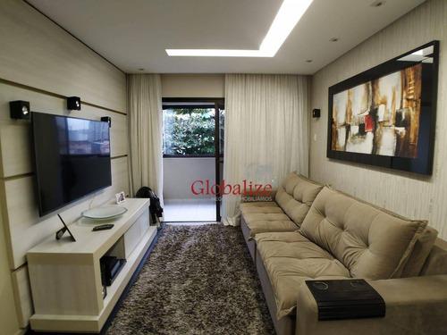 Imagem 1 de 26 de Apartamento Com 2 Dormitórios À Venda, 100 M² Por R$ 460.000,00 - Marapé - Santos/sp - Ap1066