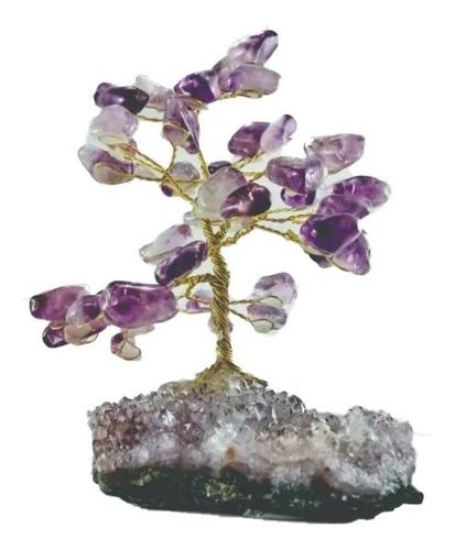 Árvore Pedra Natural Cristal Ametista Base Drusa Ametista