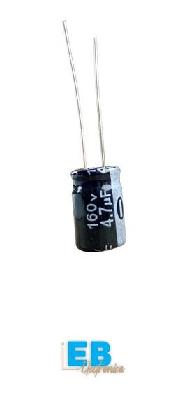 X10 Un. Capacitor Electrolitico 4.7uf X 160v 105° 8x12mm