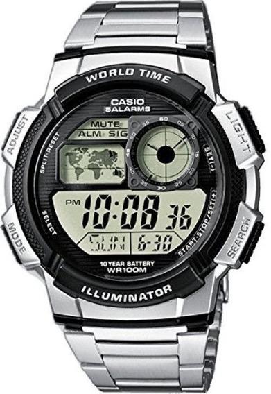 Relógio Casio Ae-1000 Wd Aço Ae-1200 Whd Com Caixa