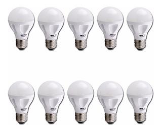 Pack X 10 Lamparas Led 9w Sica Blanco Frio / Calido E27 Tienda Oficial
