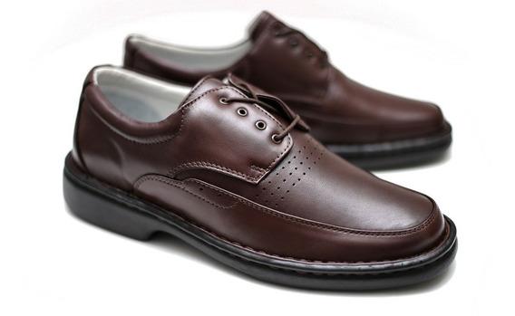 Sapato Amarrar Alcalay Relax Conforto Ortopedico Esporão 761