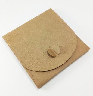 Caixinha Embalagem Para Cd/dvd Tipo Envelope Kraft C/r C/50
