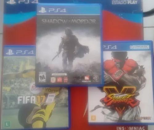 Pct De Jogos Ps4 -shadow Of Mordor- Street Fighter V-fifa17
