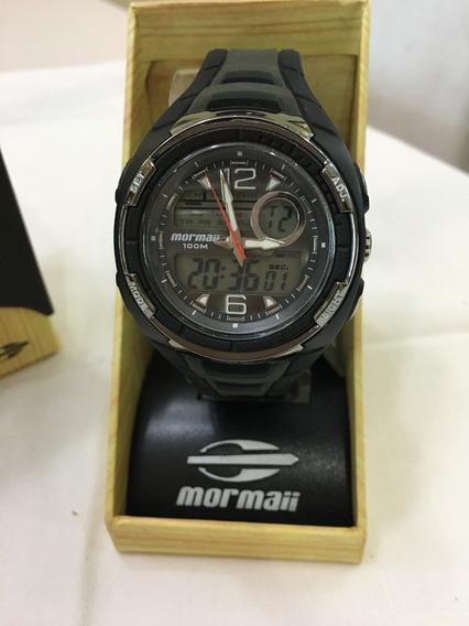 Relógio De Pulso Mormaii 9008p Preto Masculino 10atm