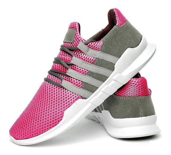 Tenis Masculino E Feminino Leve P/ Caminhada Academia Pink
