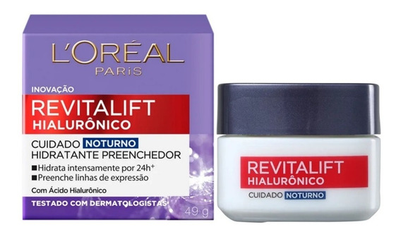 Creme Revitalift Hialurônico Noturno Loréal Paris 49g