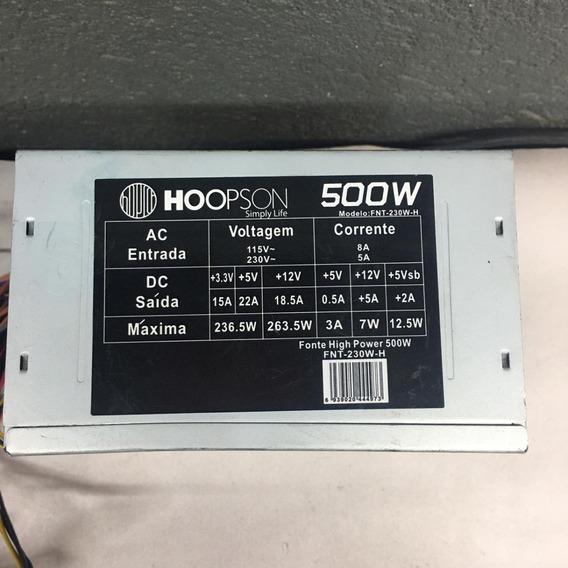 Fonte Nominal Hoopson Model:fnt-230w-h(500w)24pinos 230w