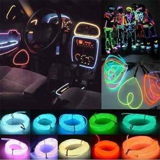 Tira Luminosa Hilo De Neon Led 3 Mts 12v - Autos Accesorios