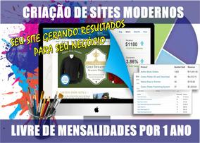 Criação De Sites Wordpress 1 Ano Livre De Mensalidades P/pro