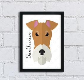 Quadro Cachorro Fox Terrier Cód: 225