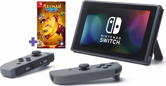 Video Game Nintendo Switch Completo Cinza 32gb + Jogo Rayman