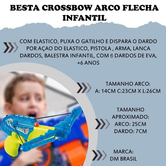 Besta Crossbow Arco Flecha Infantil Arma Alvo Educativo Atac