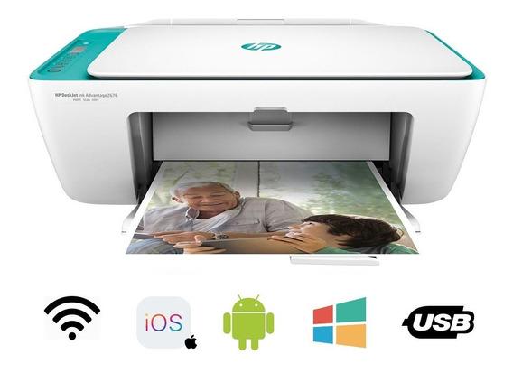 Impressora Multifuncional Hp 2676 Wifi Cópia Scaner Colorida