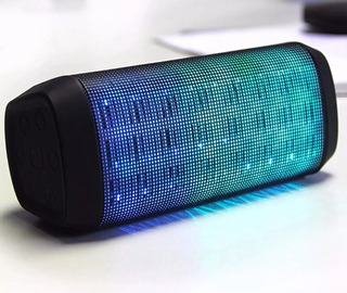 Parlante Bluetooth Luces Portátil Mini Speaker Fm Aux Graves