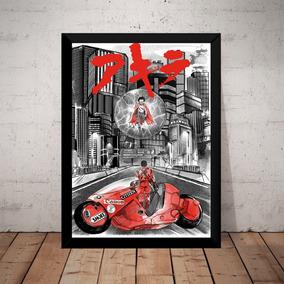 Quadro Decoração Filme Akira Anime Arte Poster Moldurado