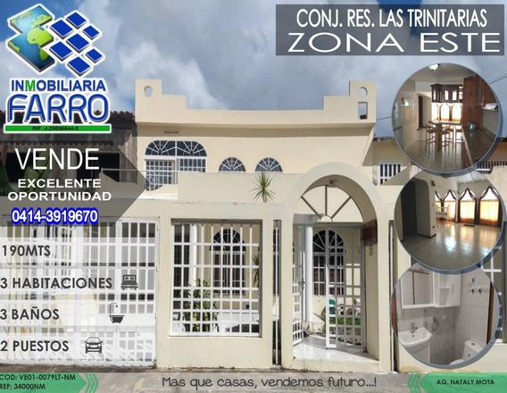 Venta De Casa En La Urb Las Trinitarias Ve01-0079lt-nm