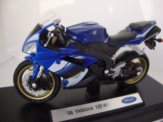 Moto Yamaha 08 Yzf-r1 Welly Coleccion 1/18 La Plata Myuj
