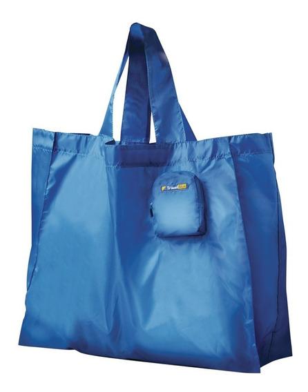 Bolso De Compras Plegable En 3 Colores Travel Blue Tb053