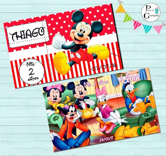 Mickey Minnie Rompecabezas Iman Personalizado Souvenir 12x20
