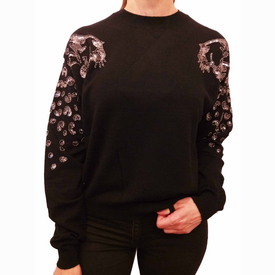 Sweater Mujer Brillos Importado Bordado Tigre Bremer