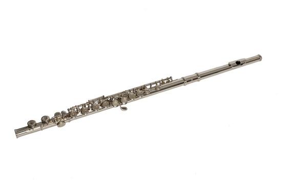 Flauta Traversa Parquer Plateada Mi Partido Cerrada Niquel