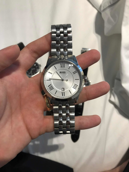 Relógio De Pulso Masculino Hugo Boss Pulseira Aço Inox